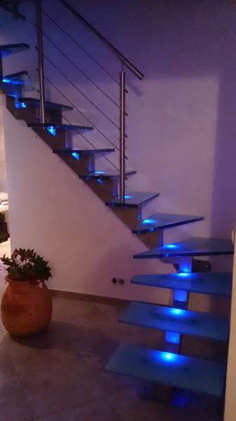 Fabrication escalier inox et verre lyon : devis gratuit - AIF Creation