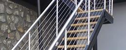 escalier inox et verre Lyon