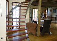 Escaliers Inox et bois