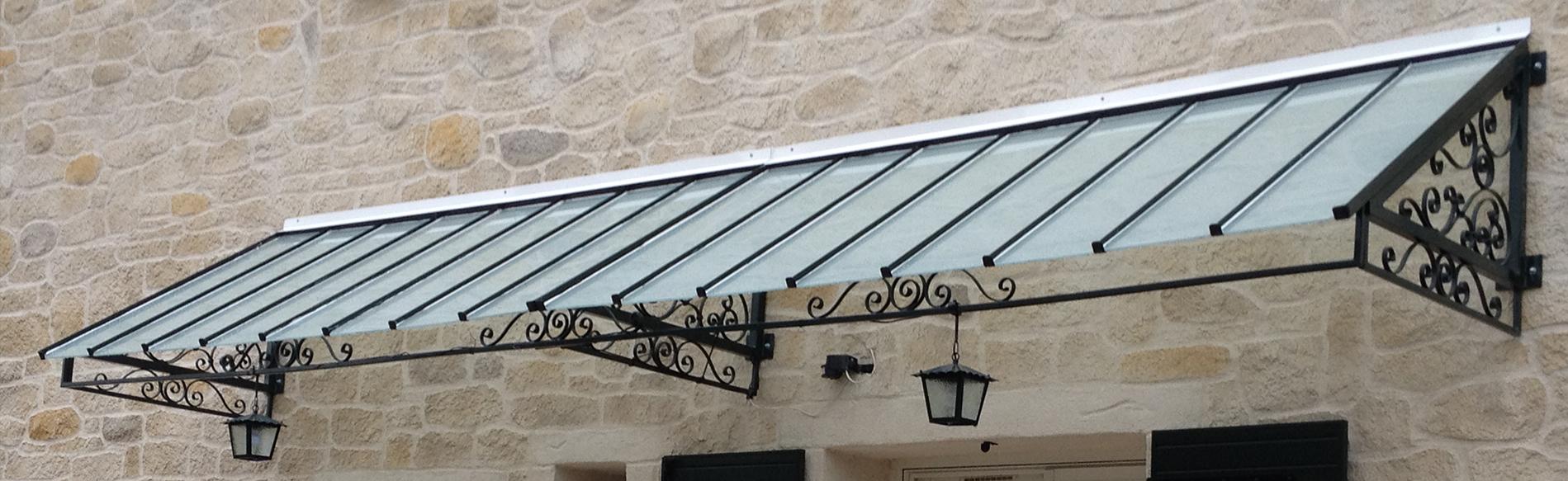 création sur mesure marquise de porte sur Lyon