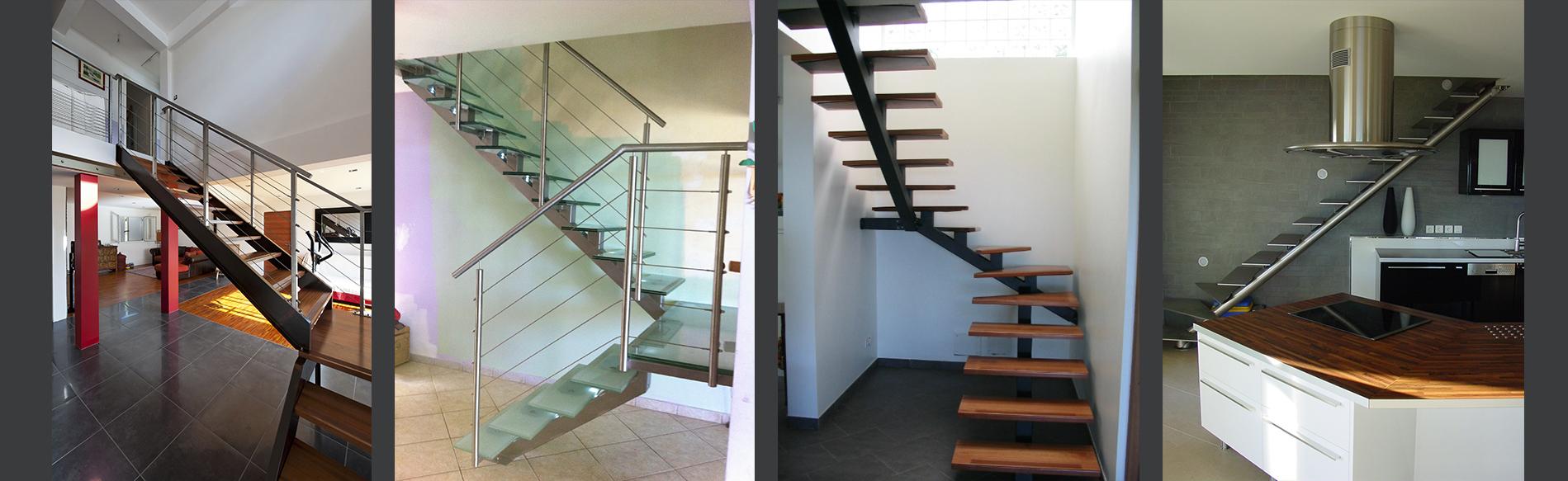 fabrication escalier acier et bois sur lyon
